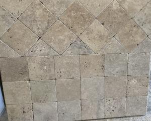 Photo Travertin pierre naturelle 10x10cm ou 15x15cm