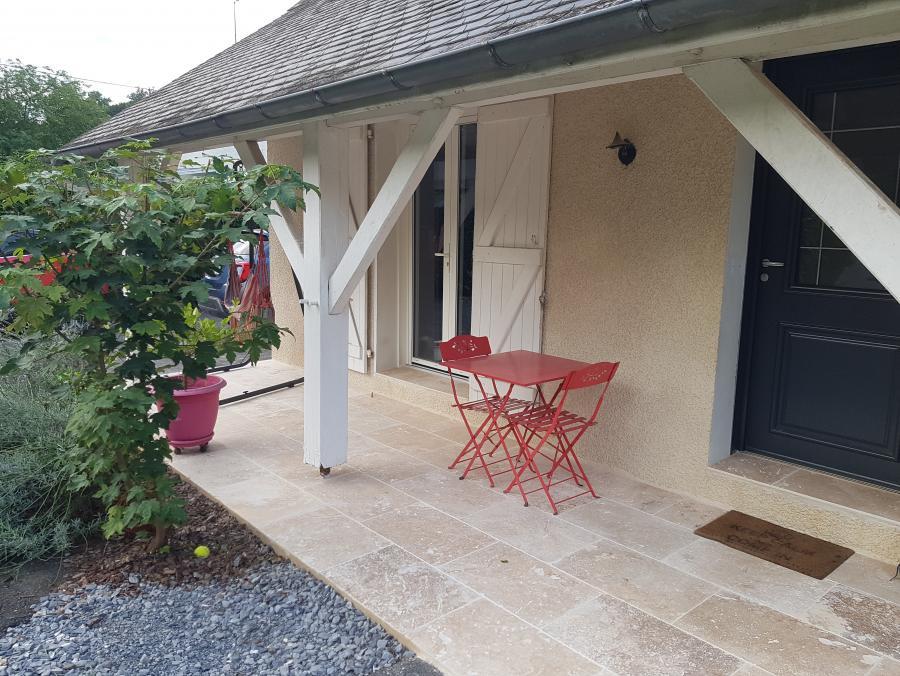 Photo Travertin en terrasse extérieur pour carrelage pierre autour de la maison