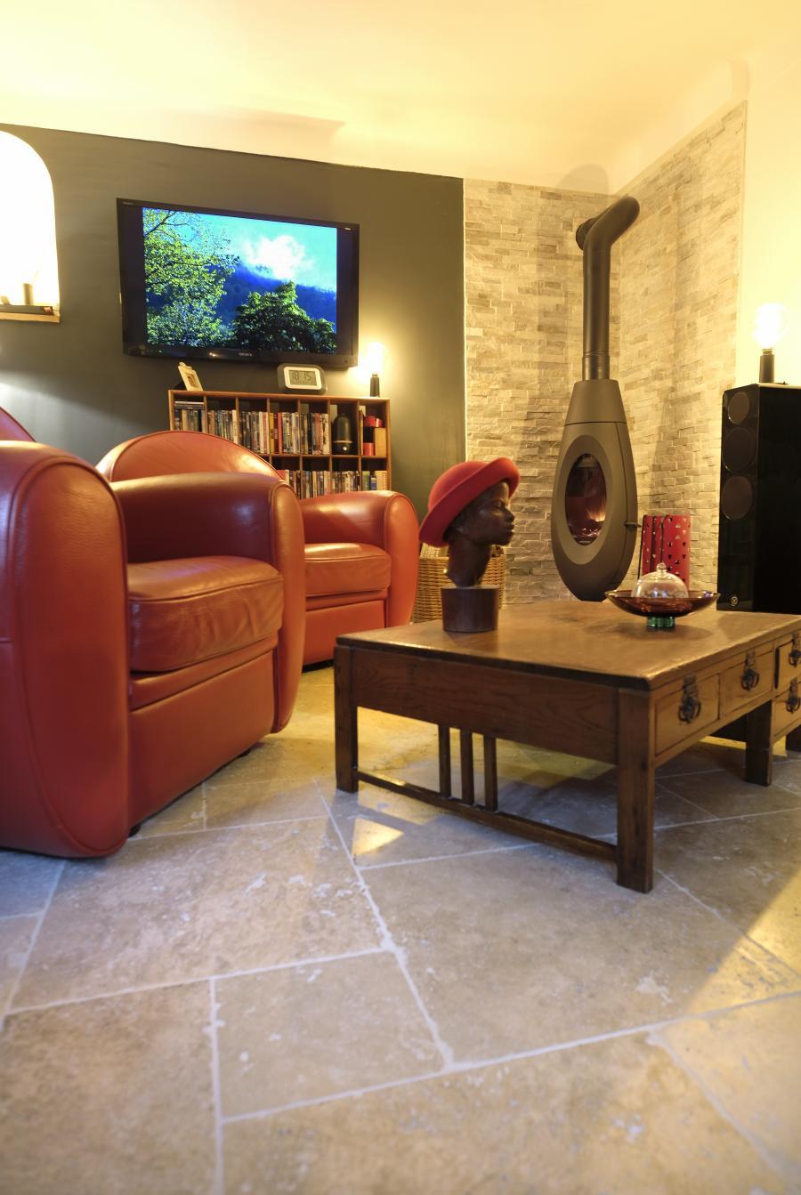 Photo Travertin intérieur carrelage pierre