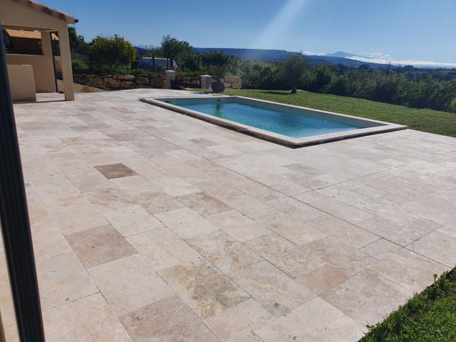 Photo Travertin en Terrasse de piscine