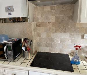 Photo Travertin pour mur de cuisine en crédence